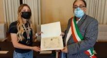 Bomporto, la campionessa di equitazione Alice Leoni omaggiata in municipio