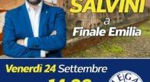 Finale Emilia, il 24 settembre la visita di Matteo Salvini